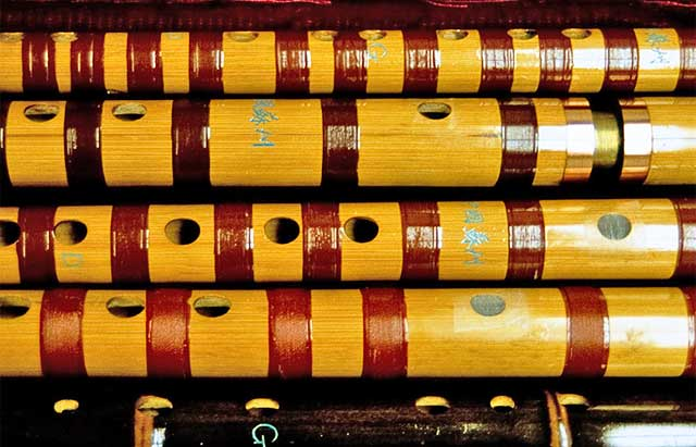 collection of di-zi flutes - Hong Kong