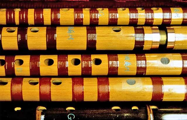 collection of di-zi flutes - Hong Kong