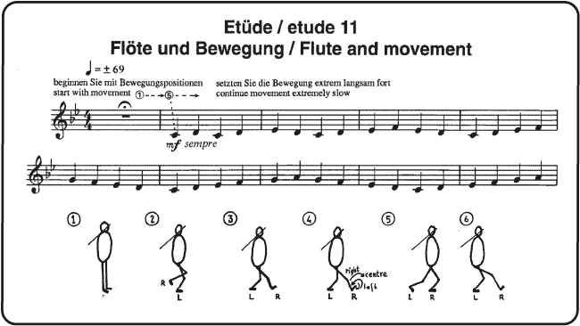 Etude 11: Flute and Movement - score sample